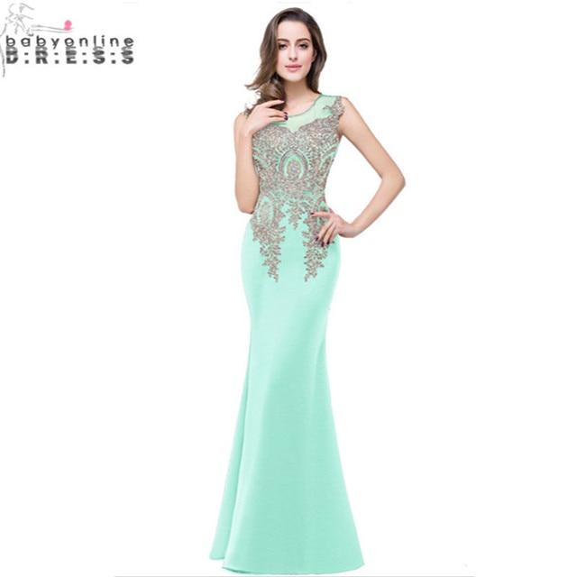 Robe Demoiselle D Honneur Mint Green Lavender Lace Mermaid