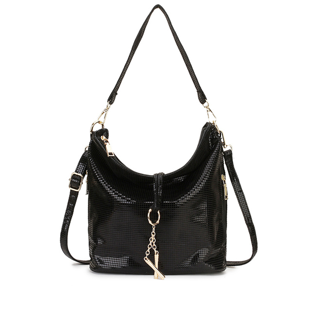 Black Women Leather Handbag...