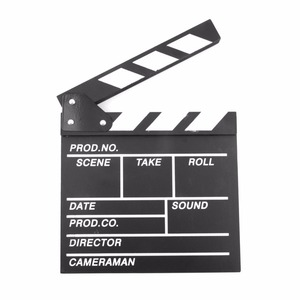 Director Video Scene Clapperboard TV Movie Clapper Board Film Slate Cut Prop drop shipping