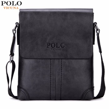 Unique Thread Design Mens Frosted PU Leather Messenger Bag Small Leisure Mens Bag Promotional Men Shoulder Bag