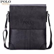 VICUNA POLO Unique Thread Design Mens Frosted PU Leather Messenger Bag Small Leisure Mens Bag Promotional Men Shoulder Bag New
