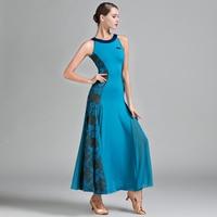 2018 Standart Ballroom Dance Dress Women Lady Milk Silk Waltz Dress Flamenco Dance Costumes Ballroom Dance Practice Wear DN1243