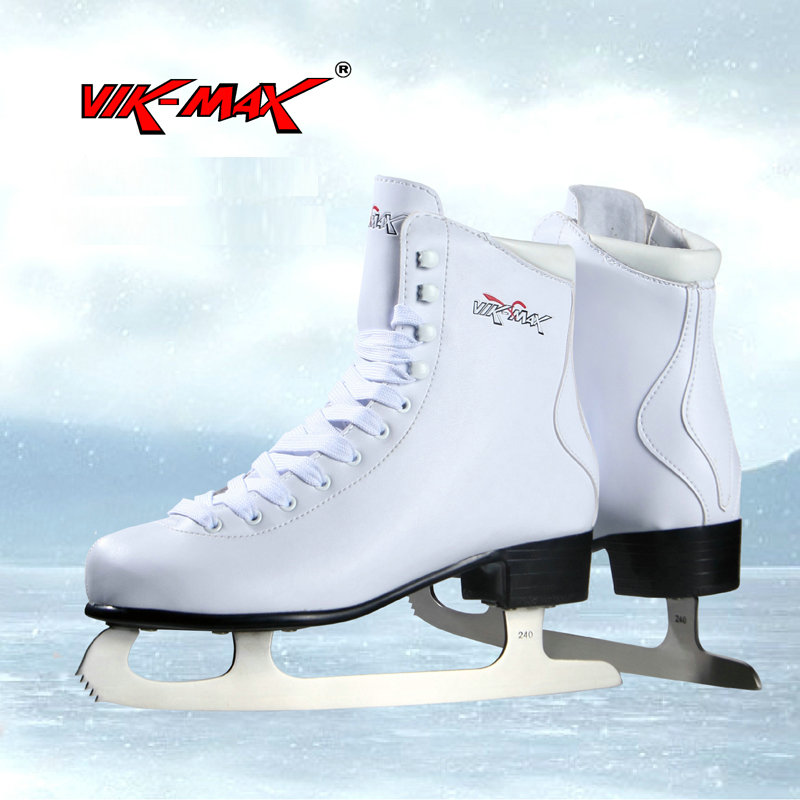 VIK-MAX factory outlet white figure skate shoes two size left ice skate shoes cheap figure skate shoes настольный футбол norditalia storm f 2 family outdoor telescopic