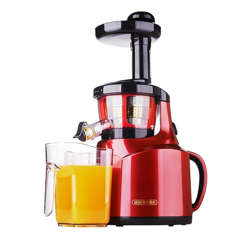 220V 65Rpm Electric Slow Juicer Multifunctional Fruit Vegetable Lemon Juicer Slow Speed Juice Extractor 100% Original Machine 900w fruit mixer machine vegetable superfood blender processor juicer extractor free shipping