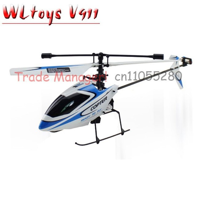 WL rc helicopter V911 (red blue and orange) 2.4g 4ch outdoor rc toys Hot Air Model Toys Remotely piloted vehicles