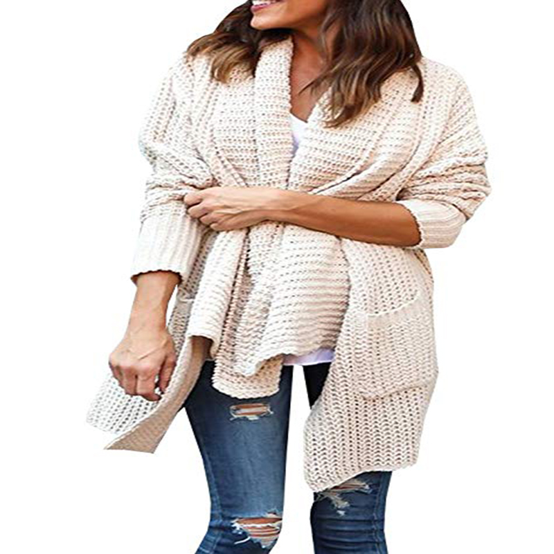 2018 Winter Cardigan for Pregnant Women Sweaters Maternity Clothes Open Front Loose Chunky Knit Outwears Tops Pregnancy Clothing