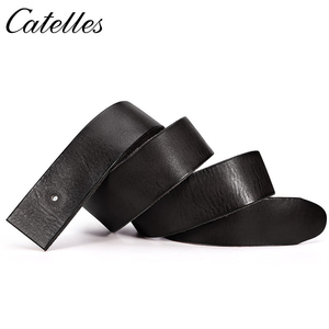 Image 4 - Catelles No Buckle Genuine Leather Belt Men Luxury Without Pin buckle Strap Male Jeans Designer Belts For Men Belts High Quality
