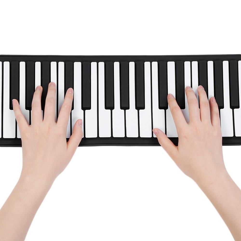 Rouleau de main de Piano Électronique Flexible Roll Up 88 Clés USB Clavier Portable Silicone Piano Jouet Musical Instrument Enfants Cadeaux Jouets