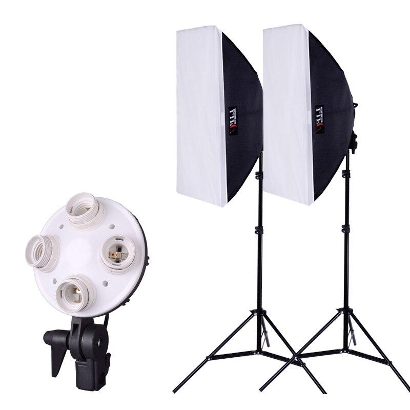 kit photo light for photo photographic equipment soft light box Photography Studio Softbox Lighting Stand Kit Set 80~210cm CD50 photography lights studio light set photography light box suitcase photo box photographic equipment 50x50cm no00dc