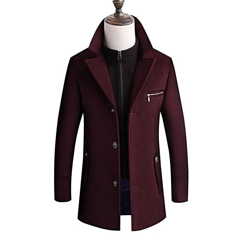 Winter Jacket Men Thickening Wool Coat Slim Fit Jackets Fashion Outerwear Warm Man Casual Jacket Overcoat Pea Coat Plus Size 6XL