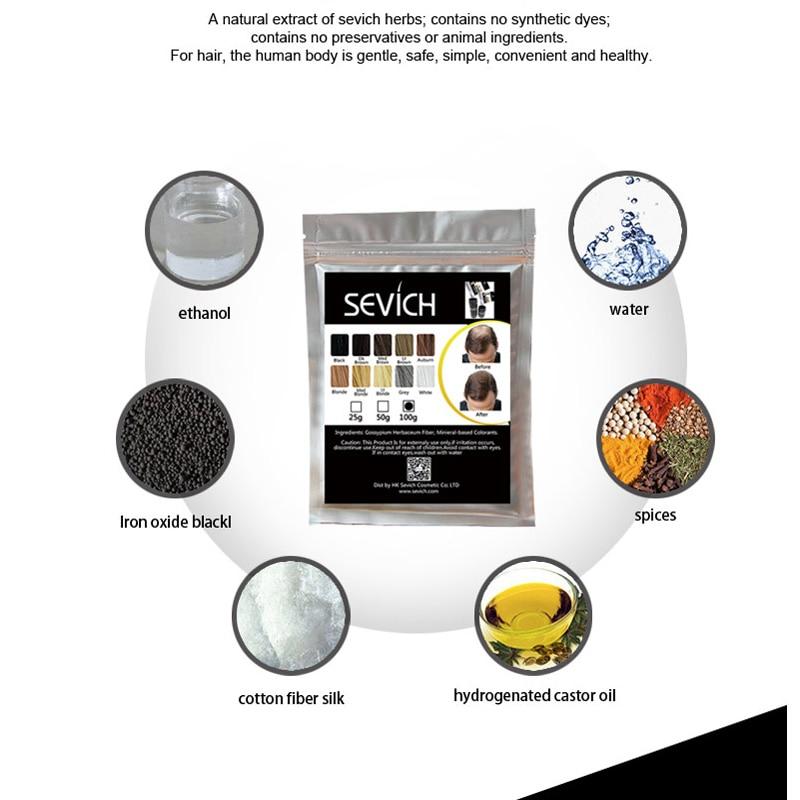 1000g cosmético hecho a mano de fibra de cabello humano, Corrector de pérdida de cabello, colorante de estilo, fibra de Color, aplicador para polvos de pelo, bolsa de recarga - 3