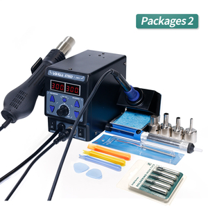 Image 3 - YIHUA 8786D I SMD Soldering Stationคู่Digital Display Cool Hot Air Gun Soldering Iron 2 In 1 Rework Station