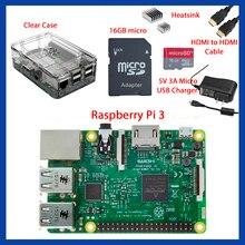 Avec la Boîte de Détail Kit de Démarrage Complet Clear Case 16 GB avec Noobs Dissipateur Édition pour Raspberry Pi 3
