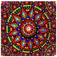 3D Full Resin Square Diamond Painting 5D Diamond Embroidery Religion Blue Mandala Needlework Mosaic Cross Stitch