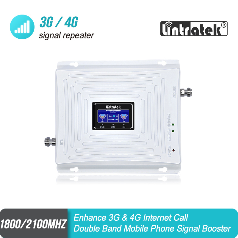 Dual Band Signal Repeater GSM 1800 4G 3G UMTS 2100 Mobile Phone Signal Booster LCD Display LTE Cellular Signal Amplifier S40