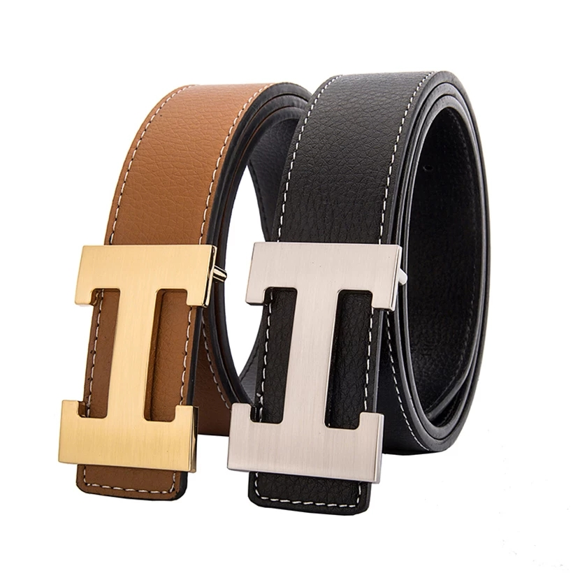 2019 Luxury Designer H Brand Designer   Belts   Men High Quality Male Genuine Real Leather Women   Belt   H Buckle Strap for Jeans