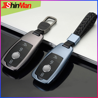 ShinMan High Quality Aluminum Alloy Car key Cover key Case For Mercedes Benz Maybach S3210I S350 S450 S350L 2017 2018 keychain