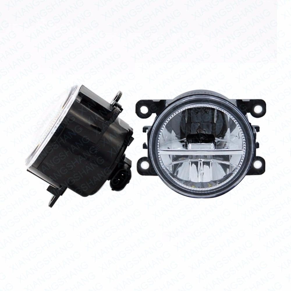 2шт автомобилей стайлинг круглый передний бампер светодиодные Противотуманные фары DRL дневного вождения противотуманные фары для Форд ecosport 2013-2014