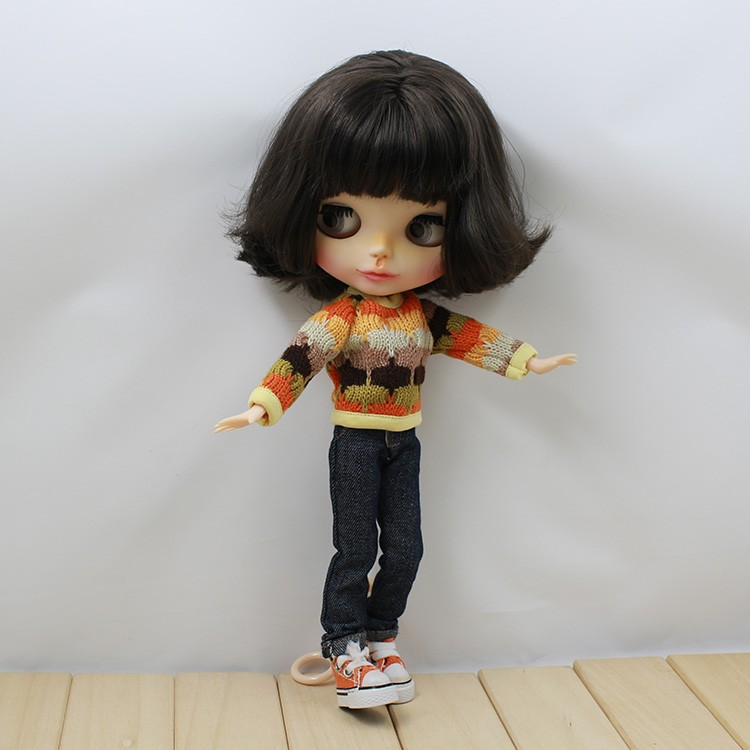 Neo Blythe Doll Colorful Sweater 2