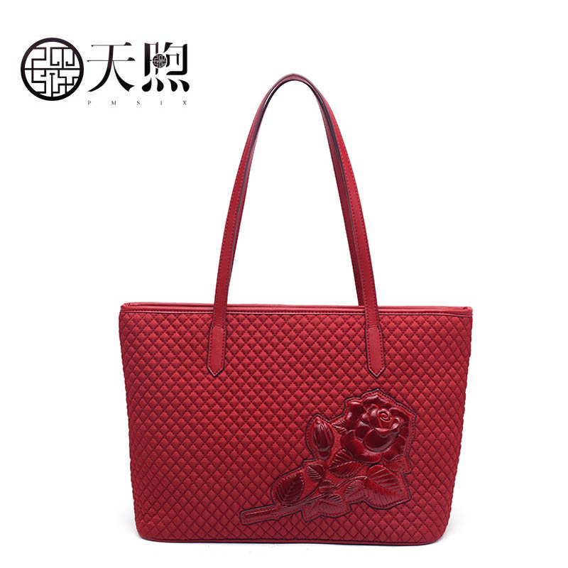 PMSIX 2019 New women canvas bag fashion handbags women famous brands Embossing bag big capacity women quality shoulder bagPMSIX 2019 New women canvas bag fashion handbags women famous brands Embossing bag big capacity women quality shoulder bag