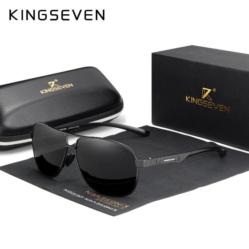 KINGSEVEN 2020 Brand Men Aluminum Sunglasses Polarized UV400 Mirror Male Sun Glasses Women For Men Oculos de sol 13