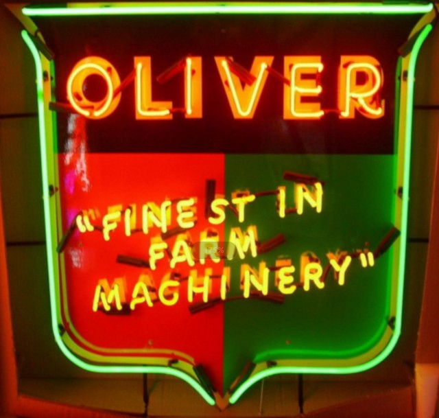 Custom Oliver Tractor Finest In Farm Machinery Glass Neon Light Sign Beer Bar