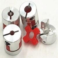 150pcs Lot Shaft Size 8mm To 10mm Jaw Flexible Coupling Plum Coupler Diameter 25mm Length 30mm