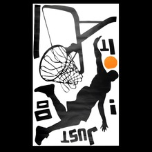 Beautiful Design Basketball Dunk Sport Removable Wall Art Decal Vinyl Sticker Excellent Quality