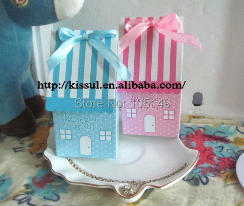 250 pieces/lot) Unique Baby Birthday Favor box of Welcome Home baby ...