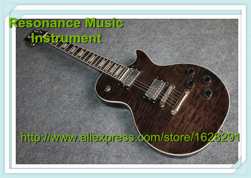 100% Real Pictures Custom Shop LP Guitar Standard Solid Mahogany Body & Left Hand Available 100% real pictures lp custom electric guitars china quilted finish mahogany guitar body for sale