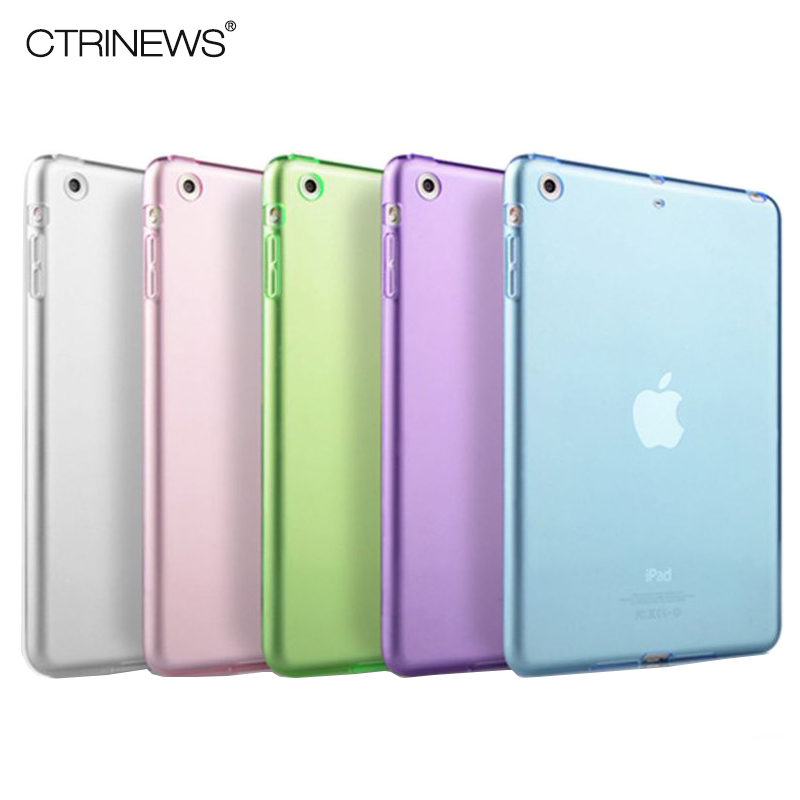 CTRINEWS For iPad Air 1 Case Clear Transparent Soft TPU Silicone Back Case for Apple iPad 5 Air 1 Tablet PC Protective Cover high quality thickening tpu silicone cover for ipad air ipad 5 case fashion soft transparent froste cover air1 tablet pc stand