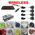 Car LED 4 Wireless Parking Sensor Reversing Backup Radar 10 Colors #FD-3283