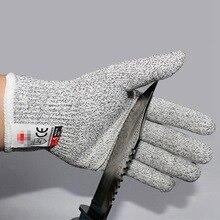1 пара новых CE анти-резных охотничьих перчаток безопасные устойчивые к порезам ударопрочные проволочная металлическая сетка из нержавеющей стали ограненная безопасность