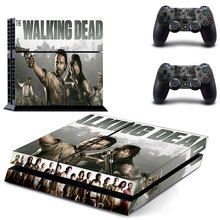 Film The Walking Dead PS4 Skin Sticker Decal Vinyl for Playstation 4 Console and 2 Controllers PS4 Sticker