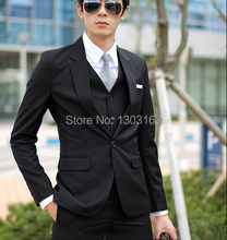 Free Shipping Custom-made Groom Tuxedos Best man Suit Wedding Groomsman dress Men Suits(Jacket+Pants+Tie+Vest)
