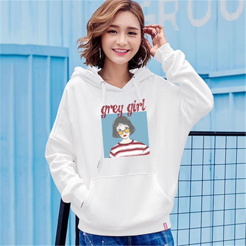 581912e087f 2018 Spring Autumn Casual Character Print Hoodies Women Plus Size Loose  Sweatshirt Girls Harajuku Hooded Pullover Female Z677-in Hoodies    Sweatshirts from ...