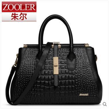 ZoolerThe new fashion leather font b handbag b font crocodile grain ladies font b handbags b