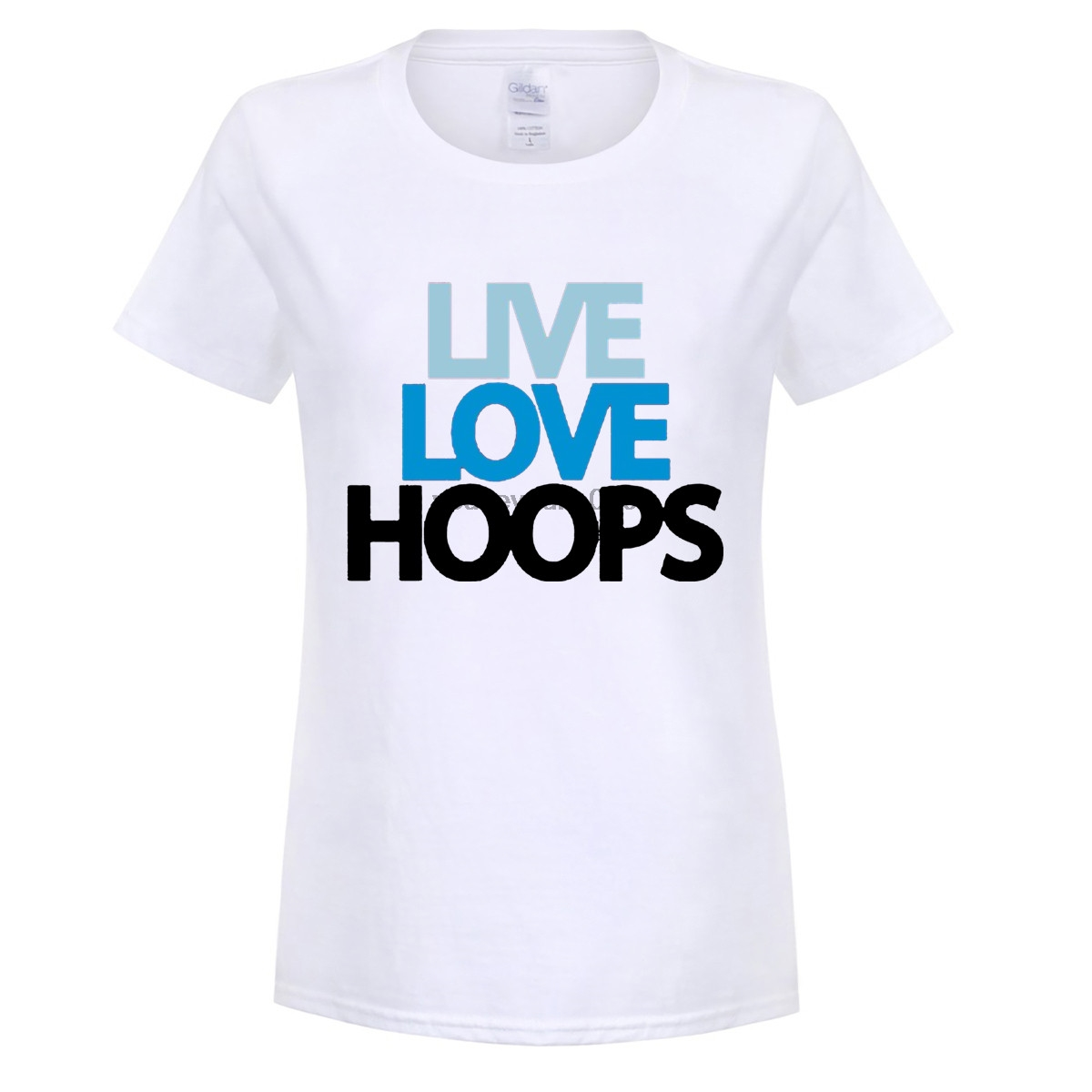 GILDAN funny women t shirt Live Love Hoops Guy T shirt For Sale Large Size Basketballer Team women Print T Shirt