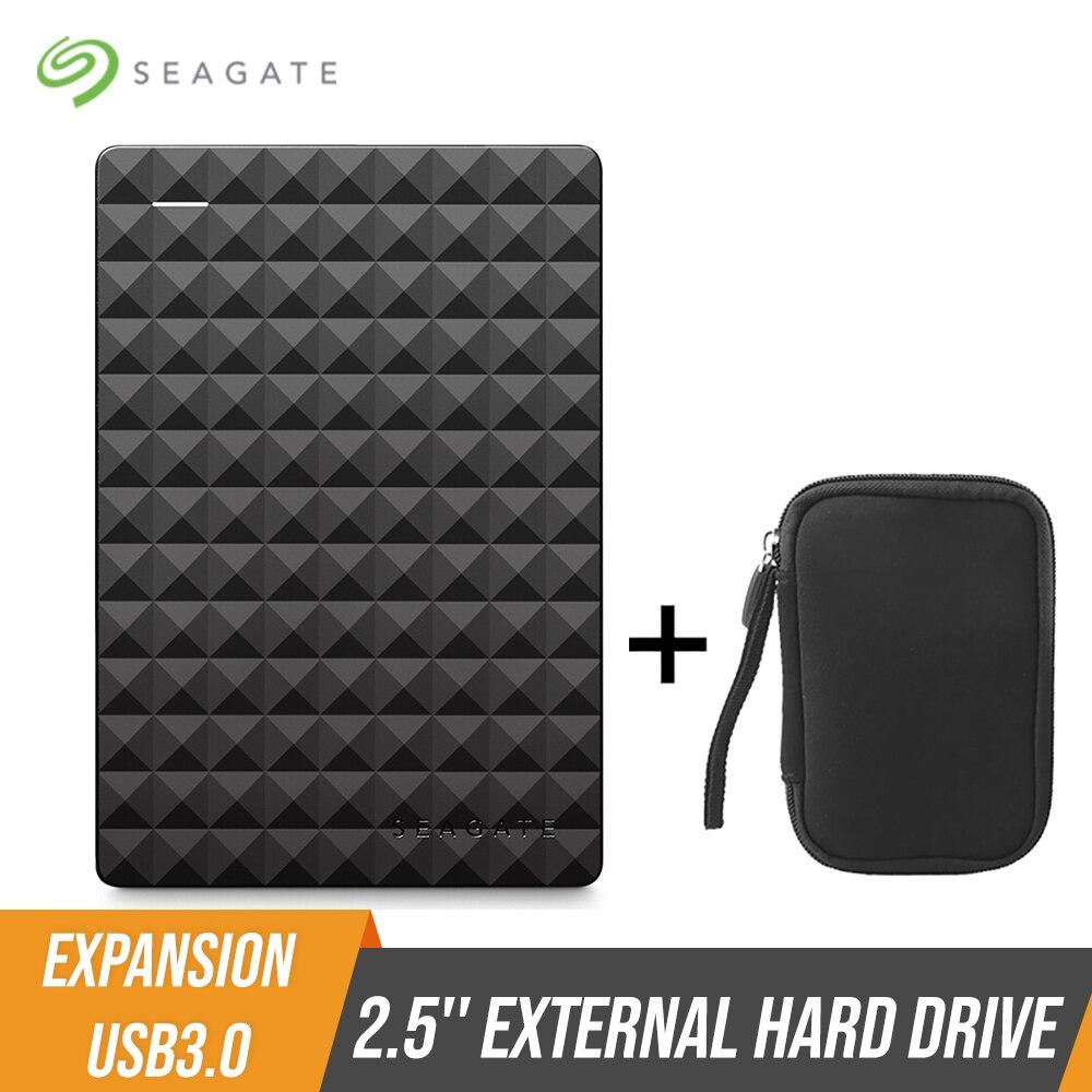 Портативный внешний жесткий диск Seagate Expansion HDD, 1 ТБ, 4 ТБ, USB 3,0 HDD, 2,5 дюйма, для настольного ноутбука, Macbook, Ps4