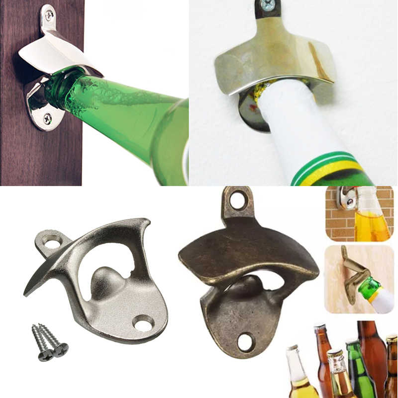 Hoomall Vintage Bottle Opener Wall Mounted Wine Beer Opener Tools Bar Drinking Accessories Home Decor Kitchen Party Supplies