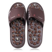 BYRIVER Jade Stone Foot Massager Slippers Sandals Reflexology Shoes Relief Plantar Faciitis, Arthritis, Arch Pain Christmas Gift