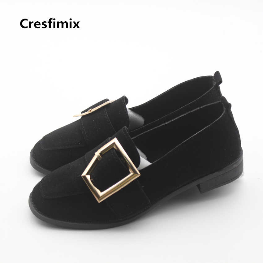 Cresfimix sapatos femininas women casual spring & summer slip on shoes lady leisure street style flock shoes female cute shoes cresfimix sapatos femininas women casual soft pu leather flat shoes with side zipper lady cute spring