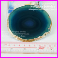 3pcs Natural Gems Crafts Semi Precious Green Agate Slice Coaster Cup Mug Glass Beverage Holder Pad Druzy Quartz Geode Agate