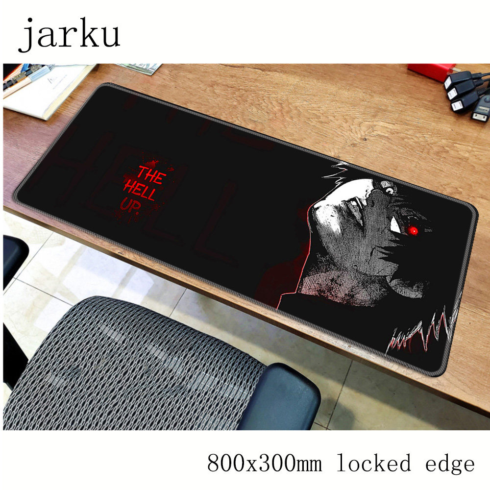 Tokyo Ghoul mousepad gamer 800x300X3MM gaming mouse pad large Beautiful notebook pc accessories laptop padmouse ergonomic mat