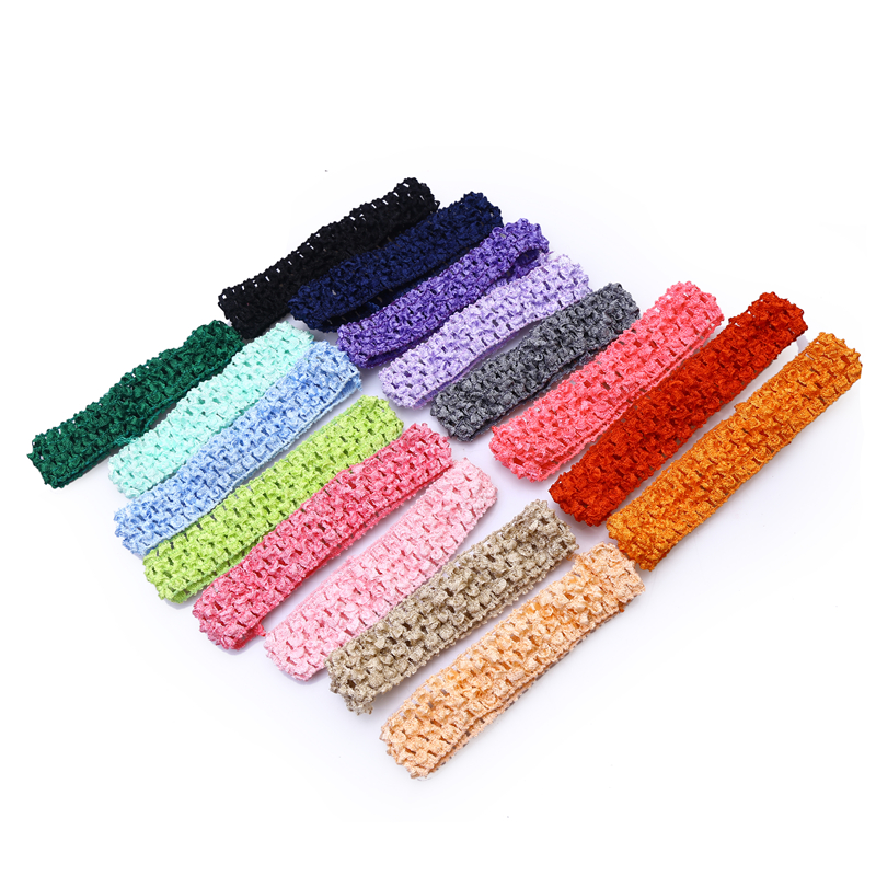 (1pcs/lot) 2016 NEW Free Shipping Baby Hair band Crochet Headbands Children Hair bands Kids Accessories 16 color in stock FJ0022
