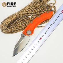 BMT Whale Shark Tactical Folding Knife D2 Blade Orange Titanium handle Flipper Camping Outdoor Survival Knife Hunt EDC Tools OEM