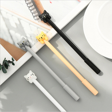 4pcs/lot kawaii Cat shaped gel pen 0.5 cute Neutral pen stationery canetas material escolar office school supplies papelaria цена