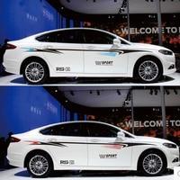 1 Set Car Styling Decoration Sports Stickers Auto Waist Line Decals Waterproof Automobiles Exterior Accessories