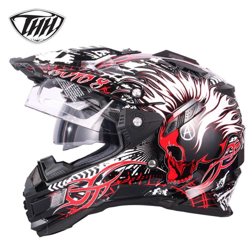 THH tx27 moto rcycle caschi ATV moto corss caschi da corsa off road Casco Capacetes casco moto DOT approvato M L XL XXL