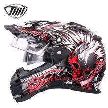 THH tx27 moto rcycle шлемы ATV moto перекрестной гонки off road Шлемы Casco Capacetes шлем moto DOT утвержден M, L, XL XXL